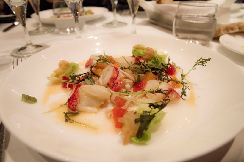 A Nova Scotia lobster salad that was served with Sofie at the beer's launch.
