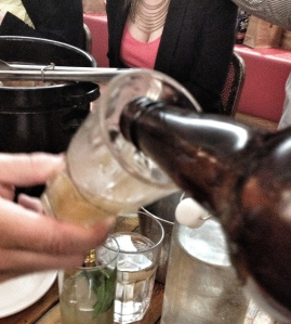 This is actually the best picture I took of the beer. Make of my phone's choice of focus what you will...