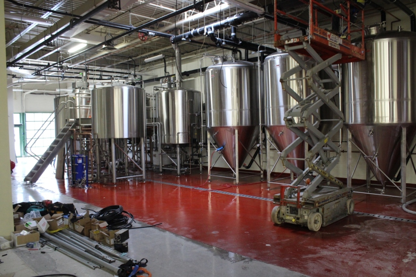 The brewhouse is a 25hL and Sam tells me it's essentially the same set up as