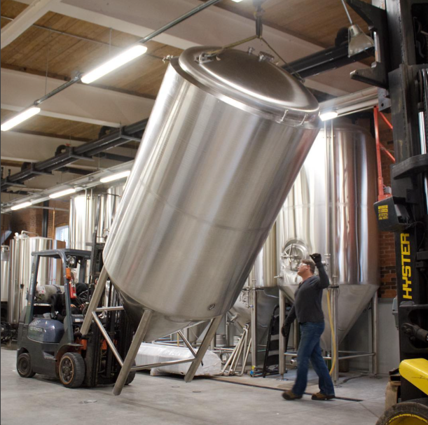 Left Field Brewery New Tank