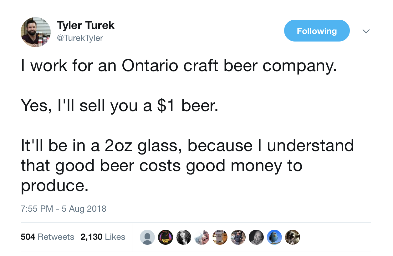 Ontario brewers should think twice before they buck